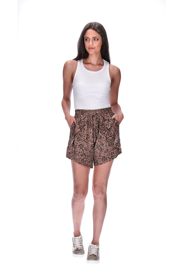 Havie Frill Shorts Leopard