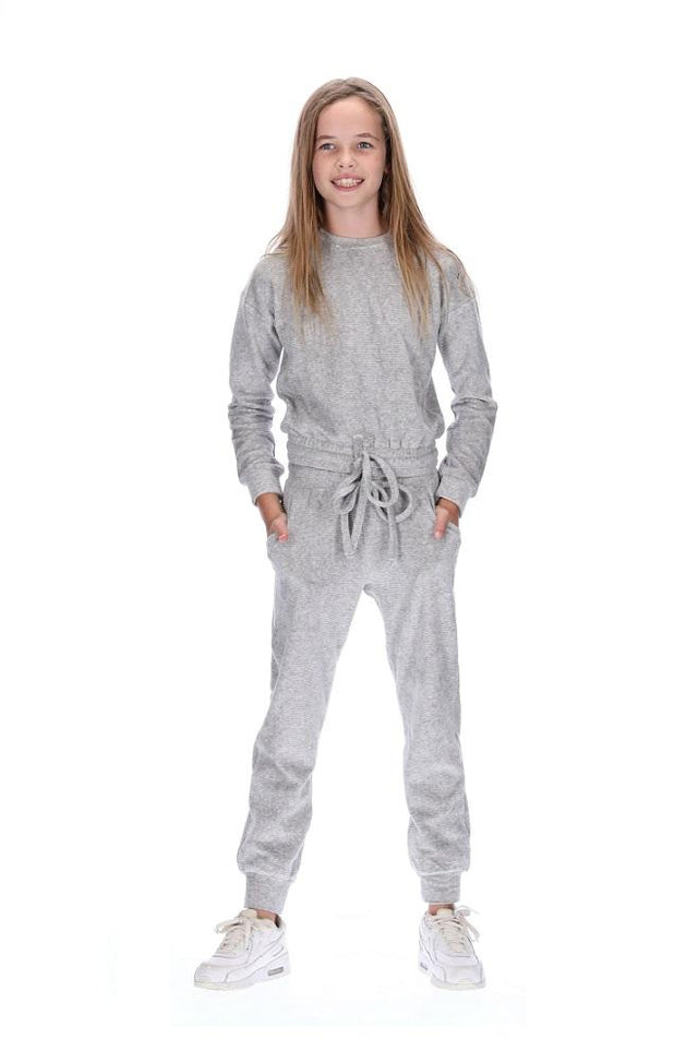 Kids Havie Tracksuit Grey