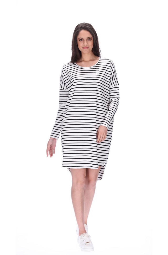 Kobi Dress Black/White Stripe