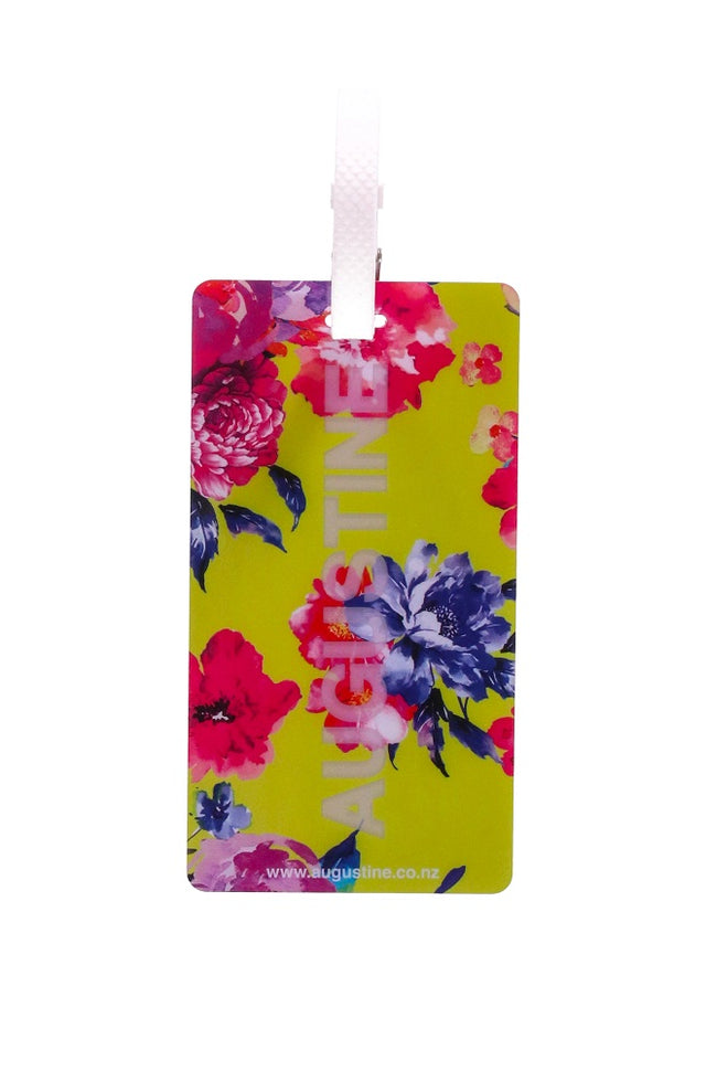 Lime Foral Luggage Tag - 2 Pack
