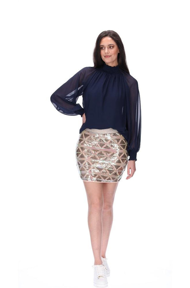 Louise Sequin Skirt