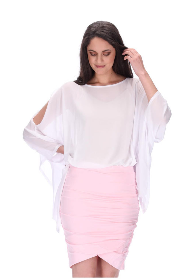 Meow Skirt Long Light Pink
