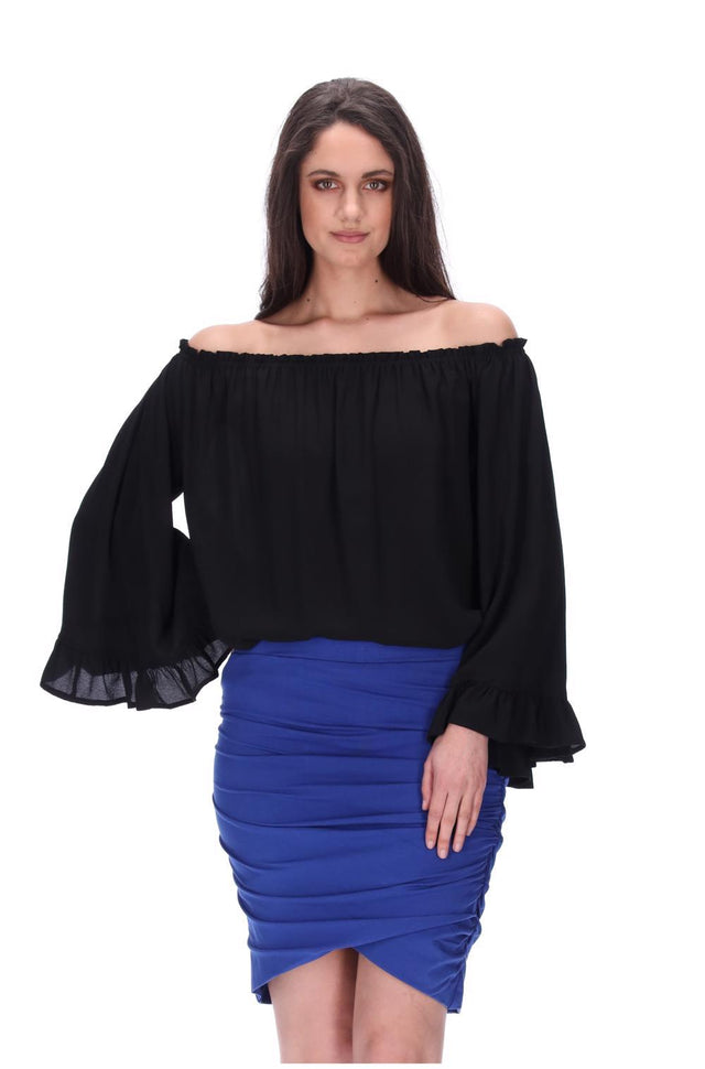 Meow Skirt Long Royal Blue