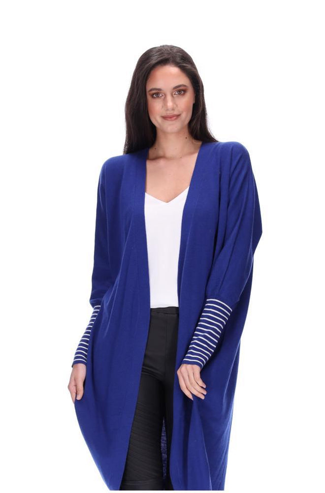 Royal Blue Merino Blend Cardi