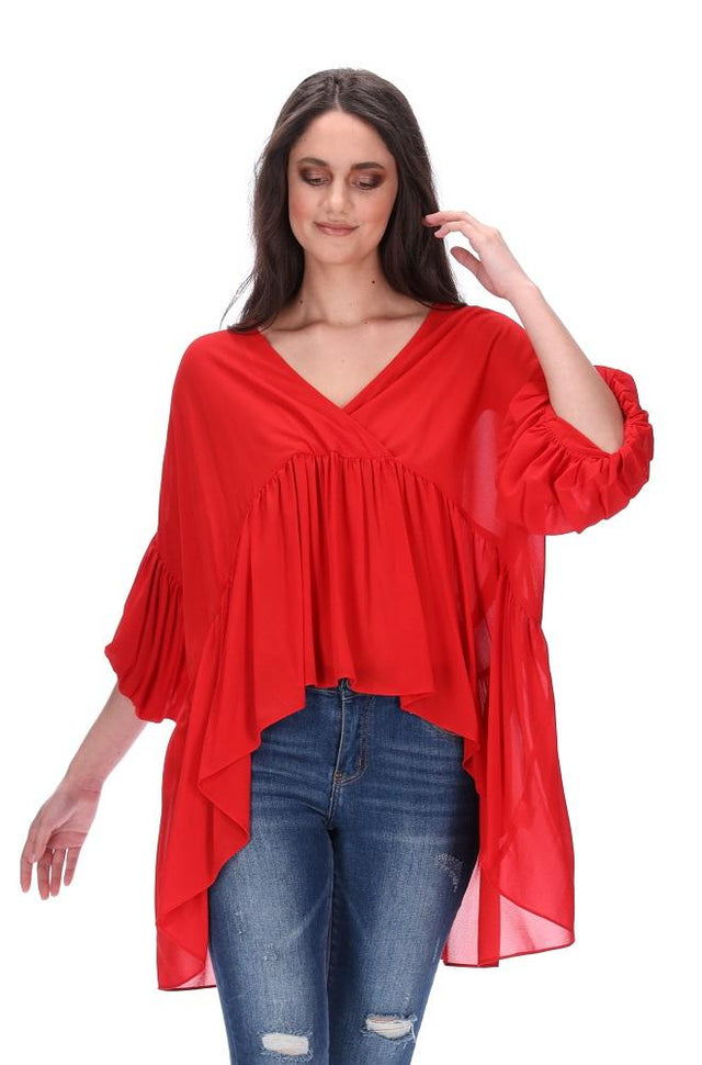 Monroe Top Red