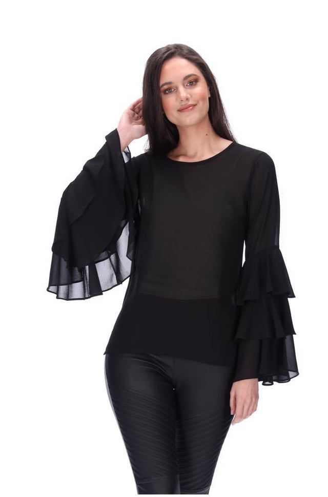 Perla Top Black