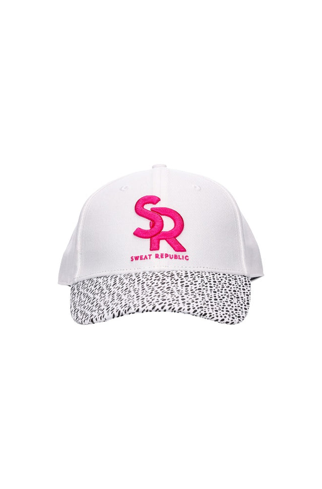 Sports Cap White/Black Spot
