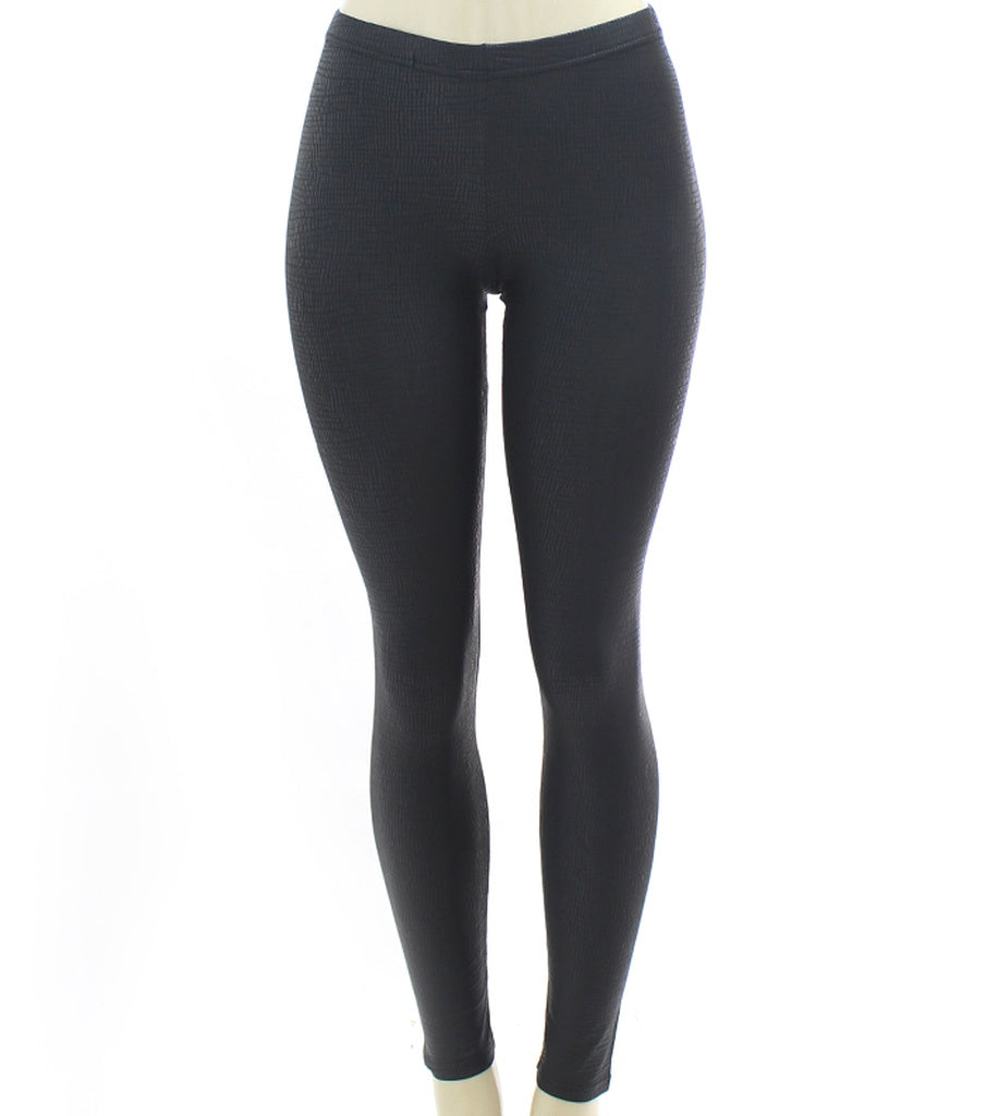 Black Matte Animal Printed Elastic Waist Legging