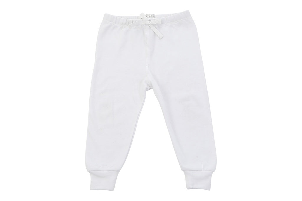 cozy pants in white