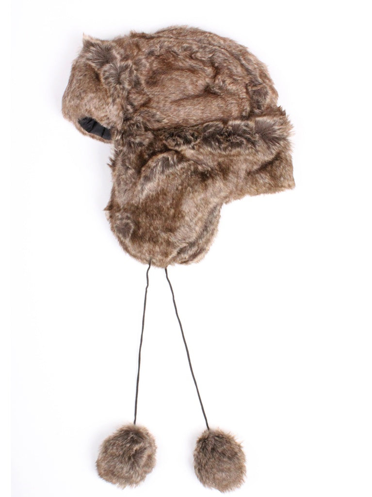 Faux Fur Trooper Trapper Hat (Large)