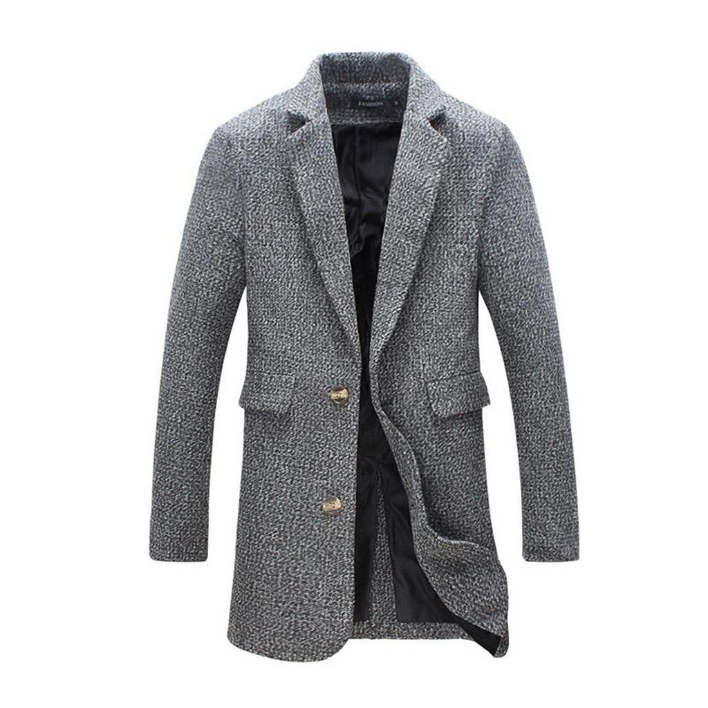 Long style men overcoat