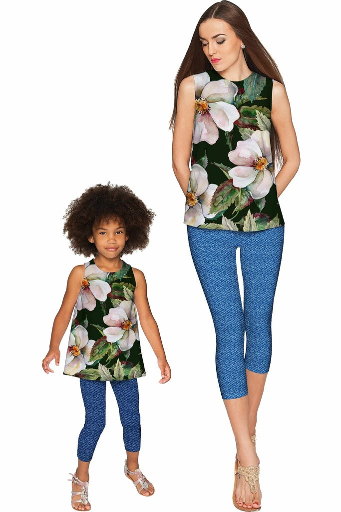 Queen of Flowers Emily Sleeveless Dressy Top - Mommy & Me