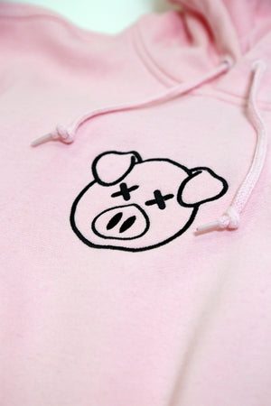 Embroidered Logo Hoodie Pink