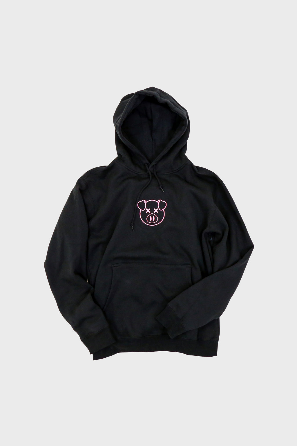 Embroidered Logo Hoodie Black
