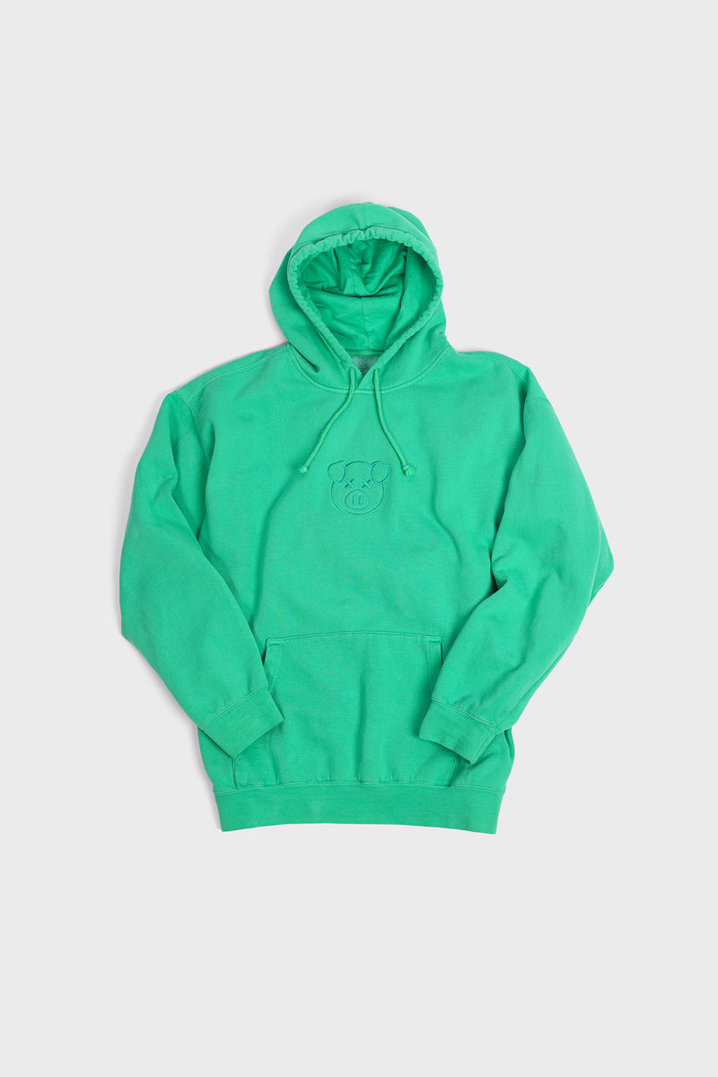Embroidered Logo Hoodie Emerald