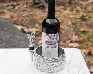 Grape Wine Caddy and Stopper Set - Edwina Alexis