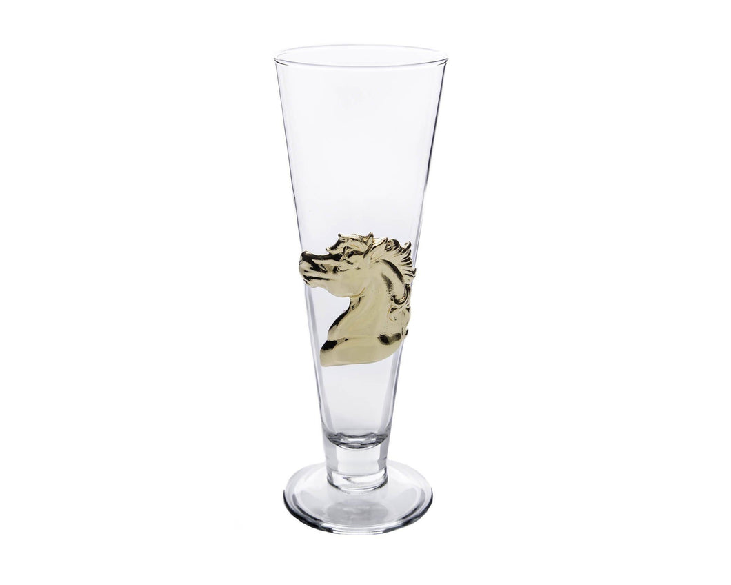 Horse 24K Gold Plated Pilsner Glass - Edwina Alexis