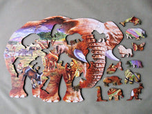 Load image into Gallery viewer, Elephant Savanna Wooden Puzzle - Edwina Alexis