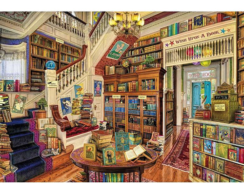 Wish Upon A Bookshop Wooden Puzzle (250 piece) - Edwina Alexis