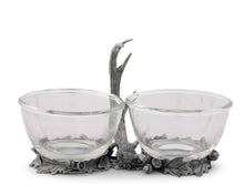 Load image into Gallery viewer, Antler Double Glass Dip Bowl - Fallen Antler - Edwina Alexis
