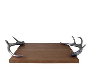 Cheese Tray With Pewter Antler Handles - Edwina Alexis