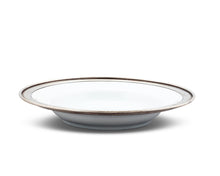 Load image into Gallery viewer, Classic Pewter Rim Soup Bowl - Edwina Alexis