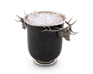 Bronze Ice Bucket - Elk Head - Edwina Alexis