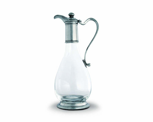 Classic Pewter & Glass Wine Decanter - Edwina Alexis