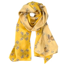 Load image into Gallery viewer, Yellow Rose Flowerkisser Italian Silk Scarf - Edwina Alexis