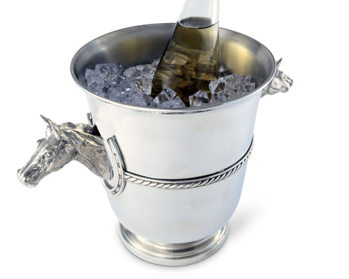 Equestrian Pewter Champagne Bucket - Edwina Alexis