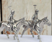 Load image into Gallery viewer, Pewter Polo Player Salt & Pepper Set - Edwina Alexis