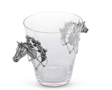 Load image into Gallery viewer, Horse Head Glass Ice Bucket - Edwina Alexis