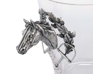 Horse Head Glass Ice Bucket - Edwina Alexis