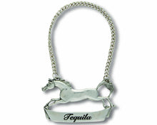 Load image into Gallery viewer, Pewter Galloping Steed Decanter Tag - Tequilla - Edwina Alexis
