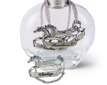 Load image into Gallery viewer, Pewter Galloping Steed Decanter Tag - Rum - Edwina Alexis