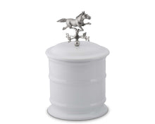 Load image into Gallery viewer, Horse Weathervane Stoneware Canister - Short - Edwina Alexis