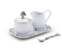 Load image into Gallery viewer, Sugar and Creamer Set - Equestrian - Edwina Alexis