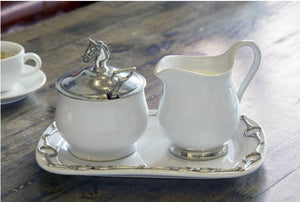 Sugar and Creamer Set - Equestrian - Edwina Alexis