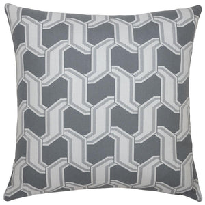 Outdoor Chain Grey Pillow - Edwina Alexis