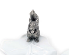 Load image into Gallery viewer, Fine Porcelain Leaf Bowl With Pewter Squirrel - Edwina Alexis