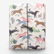 Load image into Gallery viewer, Wild Mustang Gift Wrap (Roll of 3 Sheets) - edwina-vidosh