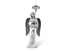 Load image into Gallery viewer, Pewter Angel Candlestick - Edwina Alexis