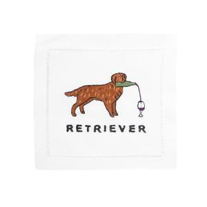Golden Retriever Cocktail Napkin - Edwina Alexis