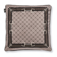Load image into Gallery viewer, Brown Velvet Equestrian Bit Pillow - Edwina Alexis