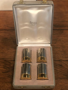 Set of 4 Decorative Bullet Casings by Hermes w/ Original Box - Edwina Alexis