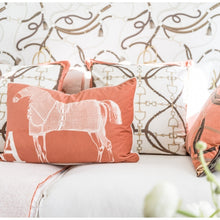 Load image into Gallery viewer, Mango Equestrian Velvet Pillow - Edwina Alexis