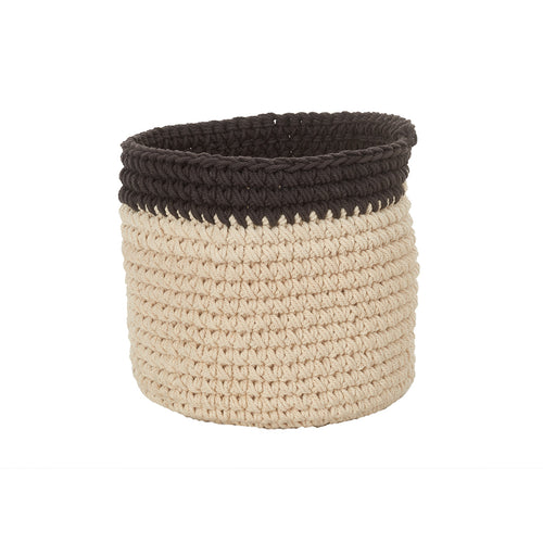 Natural Colored Hand Crochet Basket - Edwina Alexis