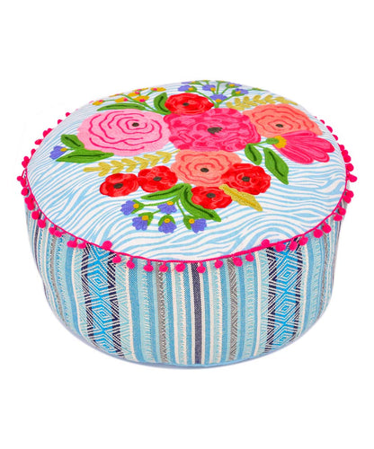 Integrity Bouquet and Stripe Pouf 20X8 - Edwina Alexis