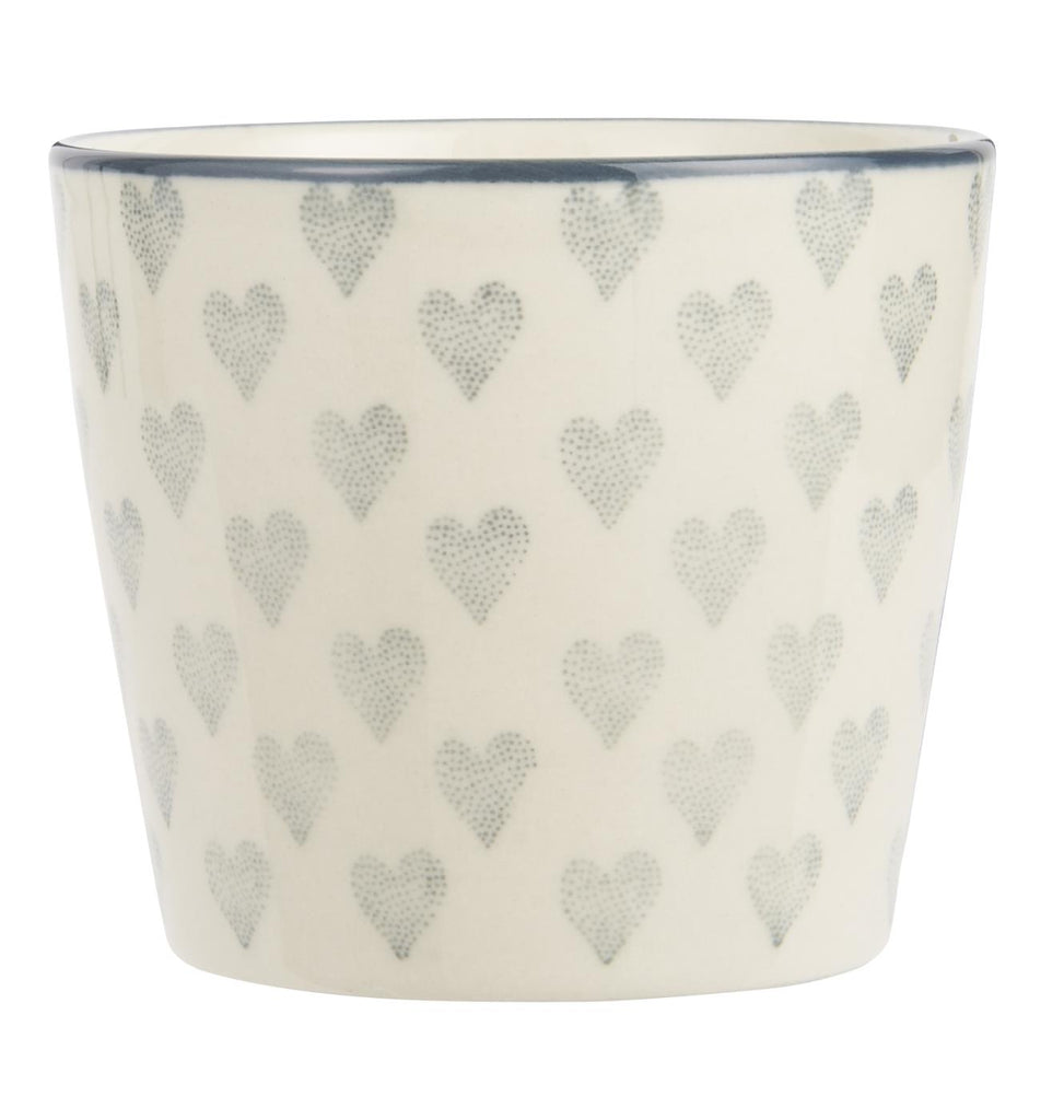 Beaker - Small with grey hearts