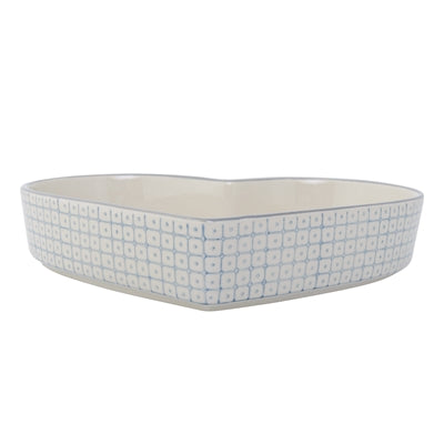 Elizabeth serving dish blue